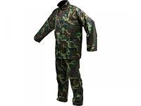 Куртка и брюки водонепроницаемые для охоты и рыбалки  VOREL цвет «Хаки», размер L, 70% - полиэстер, 30% - ПВХ