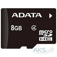 Карта памяти ADATA microSDHC 8GB Class 4 (без адаптера)(AUSDH8GCL4-R)_