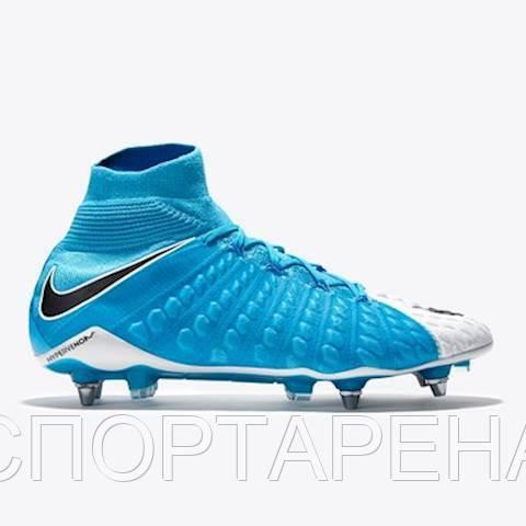fc5e90ed Профессиональные футбольные бутсы Nike Hypervenom Phantom III DF SG-PRO  852553-104 - СПОРТАРЕНА