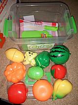 Разрезные овощи и фрукты, продукты на липучках в ланчбоксе - пластмассовые продукты на липучке в контейнере, фото 3