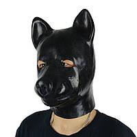 Черная резиновая маска