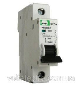 Автоматический выключатель АВ2000 City 1РC 20A  4,5кА Промфактор