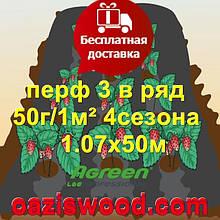 Агроволокно с перфорацией 3 в ряд p-50g 1.07*50м черное AGREEN 4сезона Итальянское качество