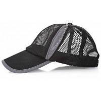 Воздухопроницаемая бейсбольная кепка с сеткой шапки Чёрный