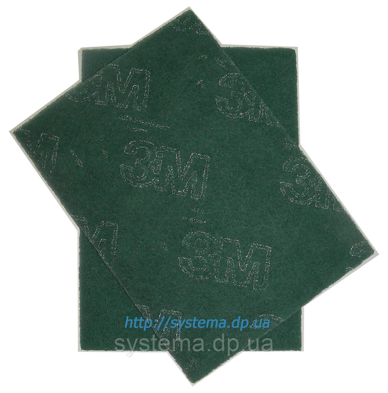 Шлифовальный лист скотч-брайт, 158 х 224 мм, A FIN, зеленый - 3M 07496 Scotch-Brite GP-SH