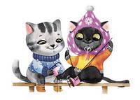 """Открытка с котятами """"Каток"""", фото 1"""