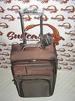 Чемодан на двух колесах Three birds коричневый - Цельные ручки (маленький) 214a6aa7000