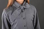 Сорочка з краваткою, стрейч бавовна, сірий в ромбик, ТМ Моне р. 128, фото 4