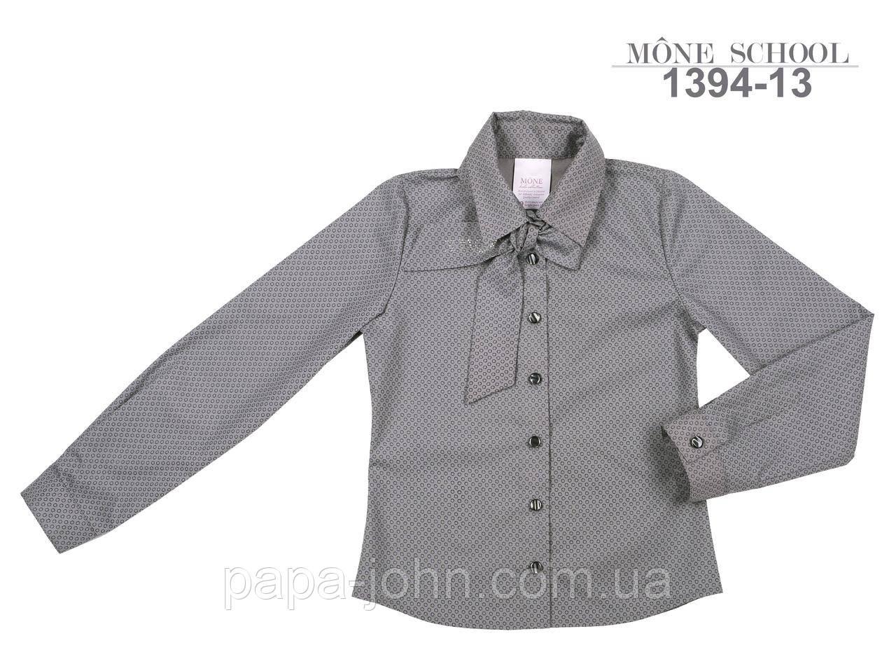 Сорочка з краваткою, стрейч бавовна, сірий в ромбик, ТМ Моне р. 128