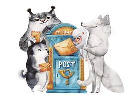 """Открытка """"Праздничная почта"""", фото 1"""