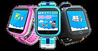 Детские GPS часы Smart Baby Watch Q100 с цветным сенсорным экраном