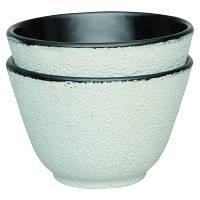 Набор чашек для чая, чугун, белый, 100 мл, 2 шт.