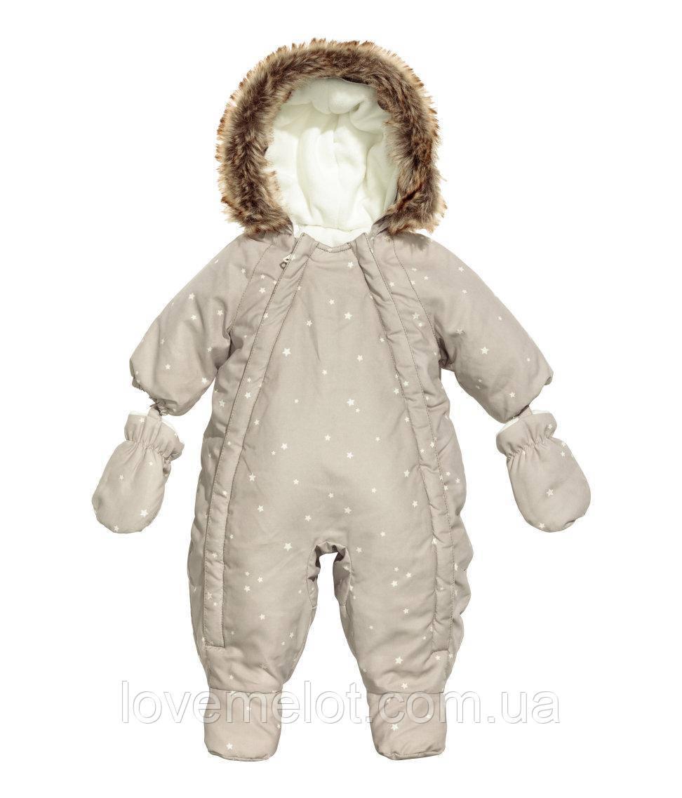 """Дитячий Теплий комбінезон на флісі для новонароджених """"Зорепад"""", 3-6 міс"""