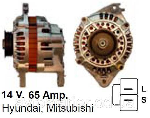 Генератор б/у после ремонта HYUNDAI Lantra , Santamo, Sonata, MITSUBISHI Colt, Galant, Lancer, DOOGE