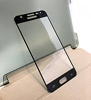 Samsung j5 Prime, G570F защитное стекло на телефон противоударное 3D Black черное