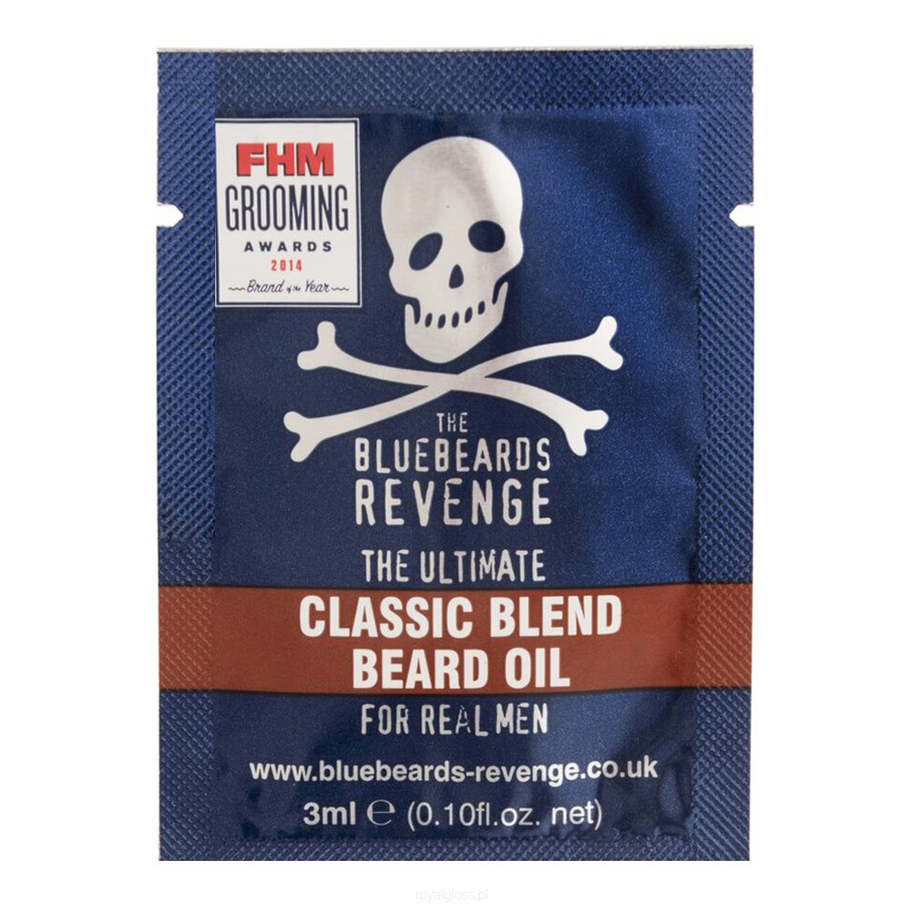 Пробник масла для бороды The Bluebeards Revenge Classic Blend Beard Oil Sachet 3 ml