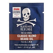 Пробник масла для бороды The Bluebeards Revenge Classic Blend Beard Oil Sachet 3 ml