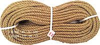 Канат веревка джутовая 12 мм х 50 м - пенька - Украина