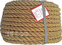 Канат веревка джутовая 20 мм х 50 м - пенька - Украина