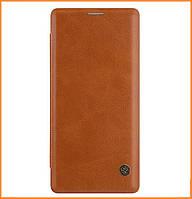Кожаный чехол-книжка Nillkin Qin Series для Samsung Galaxy Note 8 SM-N950F Brown