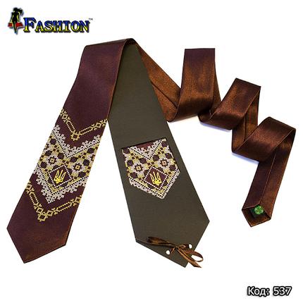 Вышитый галстук Теодор, фото 2