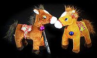 Коричневая игрушка Лошадь 29 см мягкая детская игрушка на подарок Лошадка