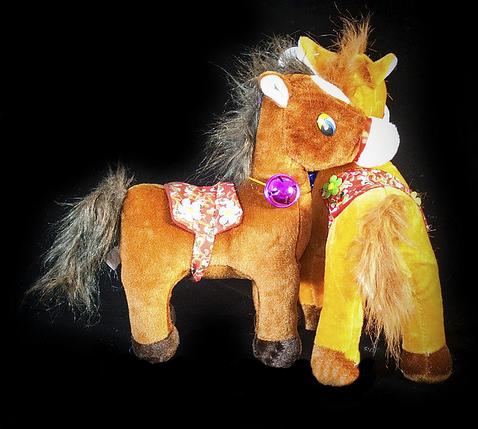 Коричневая игрушка Лошадь 29 см мягкая детская игрушка на подарок Лошадка, фото 2