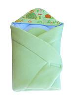 """Конверт  с капюшоном, с термопечатью,  для новорожденных """" Frotte """"  махровый 006/1"""