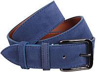 Оригинальный мужской замшевый ремень DOVHANI Z63-7 синий ДхШ: 120х4 см.