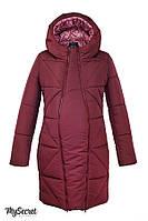 Зимове тепле пальто для вагітних ANGIE OW-48.032, бордо, фото 1