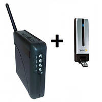 3G модем Franklin U300 с антенным разъемом + WiFi-роутер Unefon MX-001 Без подключения