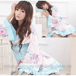 Нежное красивое кимоно халат S/M