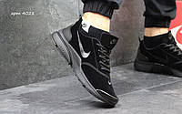 Мужские кроссовки найк Nike Air Presto  черные - Замша,подошва пенка,размеры 41-46 Индонезия