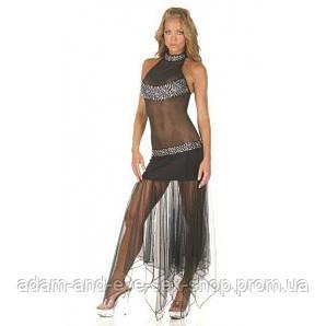 Откровенное черное платье S/M