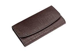 Кошелек из кожи страусаEkzotic leather  Коричневый (ow03)