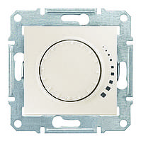 Светорегулятор индуктивный поворотно-нажимной 25-325 Вт/ВА Sedna (Шнейдер Электрик Седна) Слоновая кость, фото 1