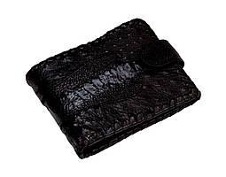 Портмоне из кожи страуса  Ekzotic leather Черное (ow05)