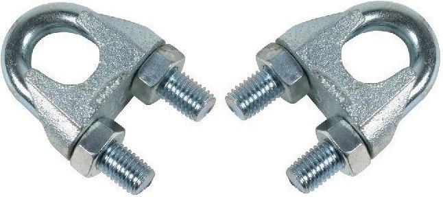 Зажим для троса DIN 741 скоба диаметр троса 3 мм