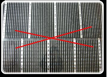 Різати термоплівку дозволяється тільки в місцях, позначених спеціальним знаком. Також ні в якому разі не укладайте плівку внахлест.