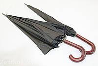 """Черный президентский зонт-трость на 16 спиц с куполом 133 см. от фирмы """"Susino"""", фото 1"""