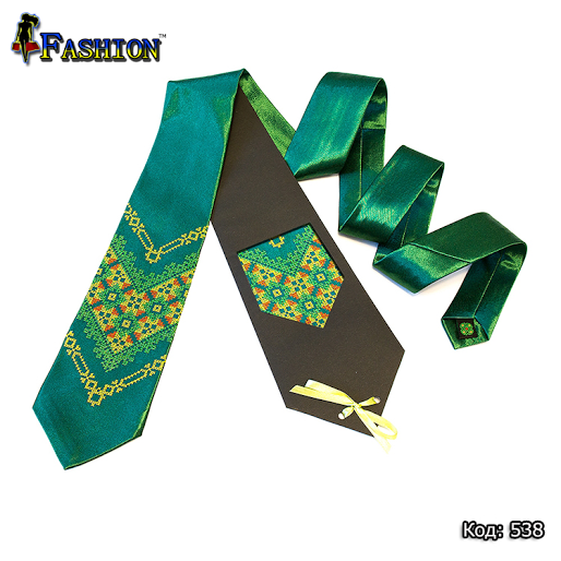 Вышитый галстук Марьян