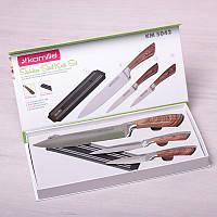 Набор кухонных ножей 4 предмета с магнитным держателем Kamille 5042