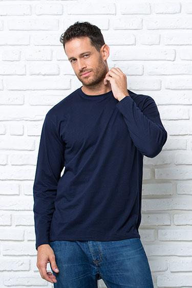 Футболка мужская JHK TSRA 150 LS с длинными рукавами  Лонгслив JHK T-shirt Испания  однотонная  хлопок