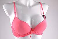 Бюстгальтер на поролоне гладкий (VS7639/Pink) | 6  шт.