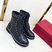 Женские высокие ботинки на шнурках Valentino
