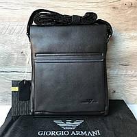 Мужская кожаная сумка через плечо Armani Армани, фото 1