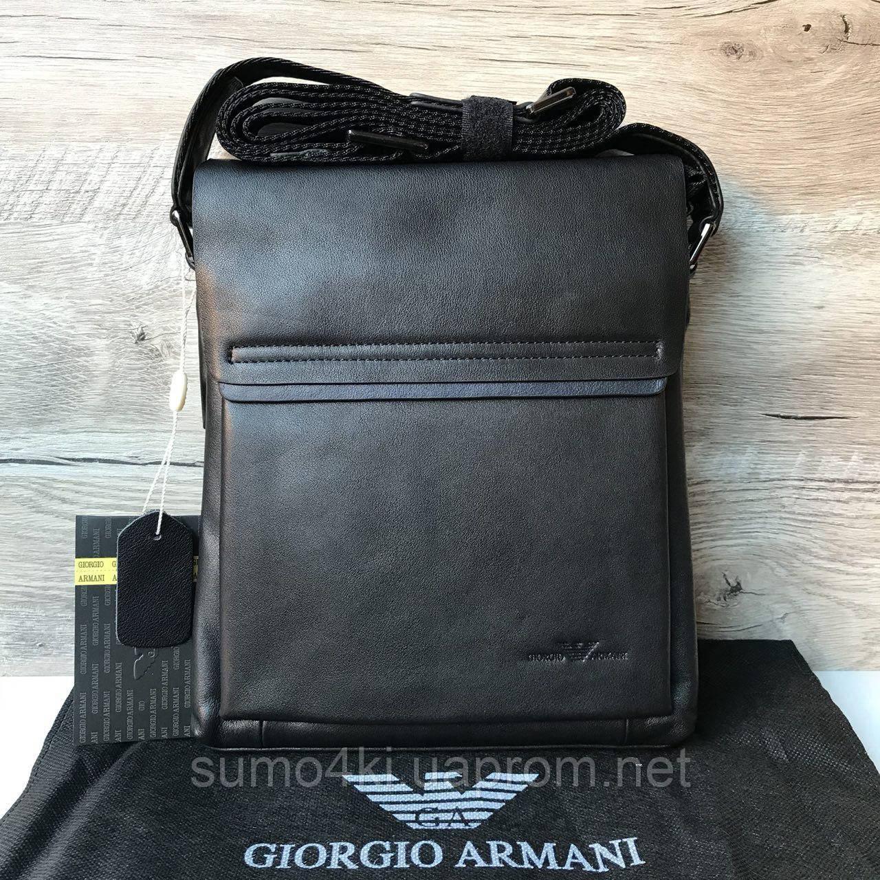 fd8e211aabb7 Купить Мужскую кожаную сумку через плечо Armani Армани оптом и в ...
