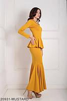 Жіноче плаття  Laura 20931-MUSTARD S Гірчичний, фото 1