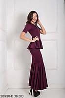 Жіноче плаття  Amalia 20930-BORDO S Бордовий