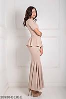 Жіноче плаття  Amalia 20930-BEIGE S Бежевий